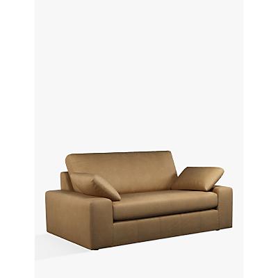 John Lewis & Partners Prism Medium 2 Seater Leather Sofa, Dark Leg