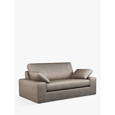 John Lewis & Partners Prism Medium 2 Seater Leather Sofa, Dark Leg