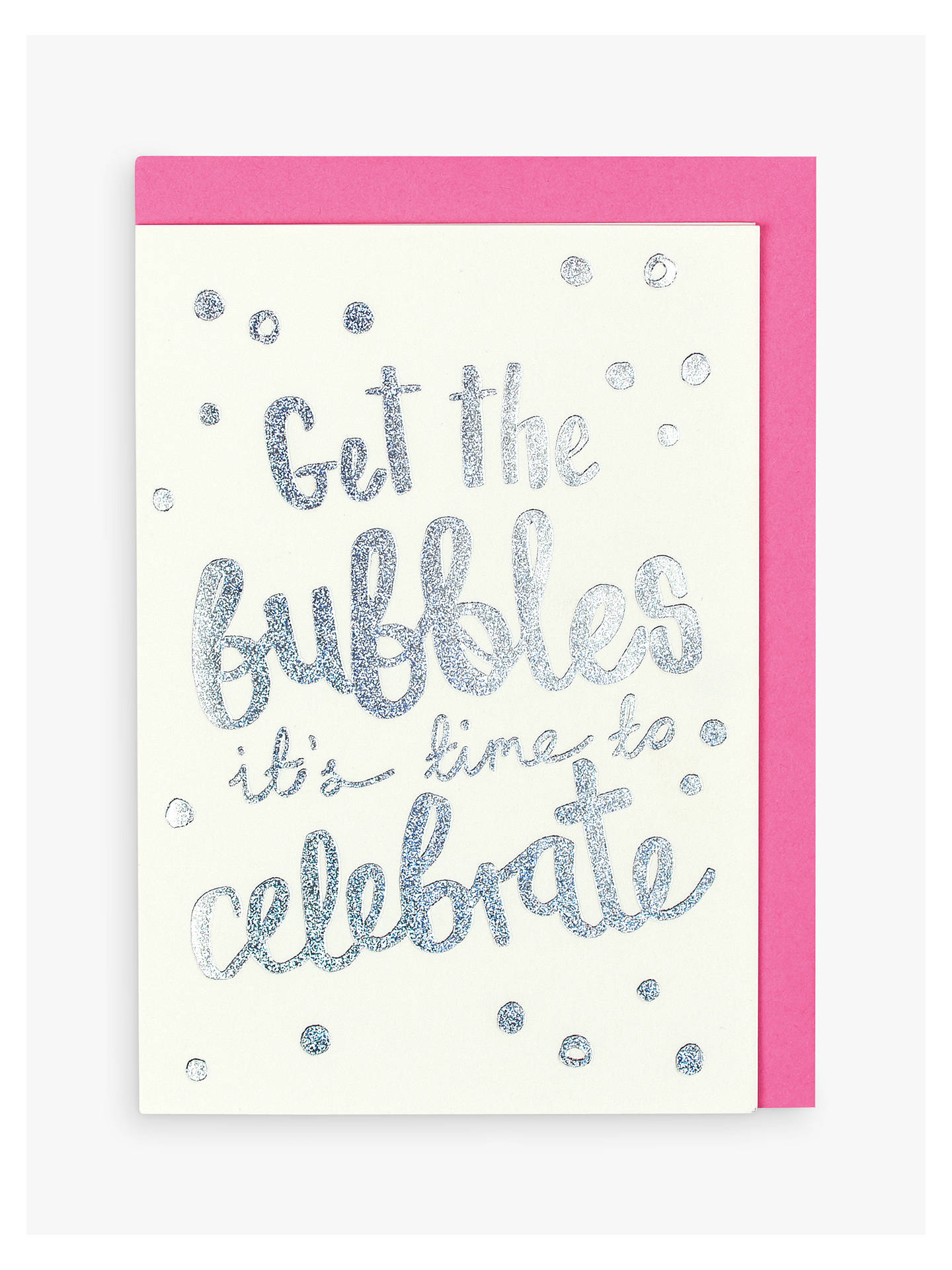 BuyRaspberry Blossom Bubbles Card Online at johnlewis.com