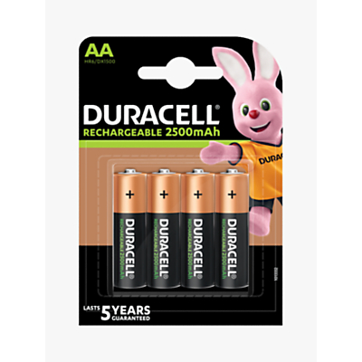 Image of DURACELL Ultra Rechargeable AA Batteries, Pack of 4