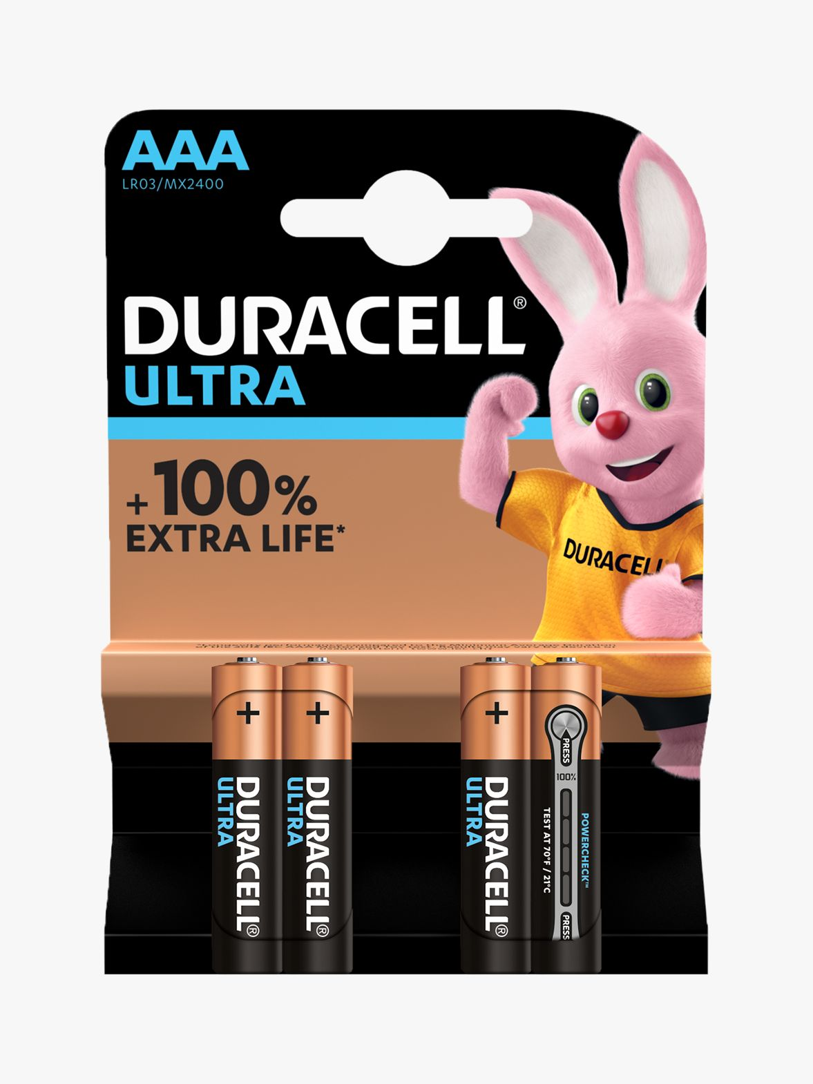 Duracell Duracell Ultra Power 1.5V Alkaline AAA Batteries, Pack of 4