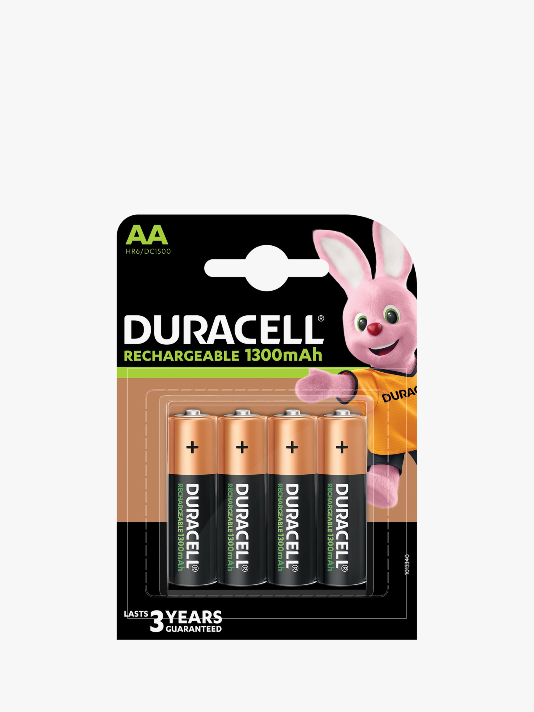 Duracell Duracell Recharge Plus, Rechargeable AA Batteries, Pack of 4
