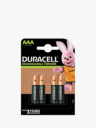 Duracell Recharge Plus, Rechargeable AAA Batteries, Pack of 4