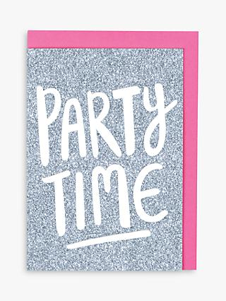 Raspberry Blossom Let's Party Birthday Card