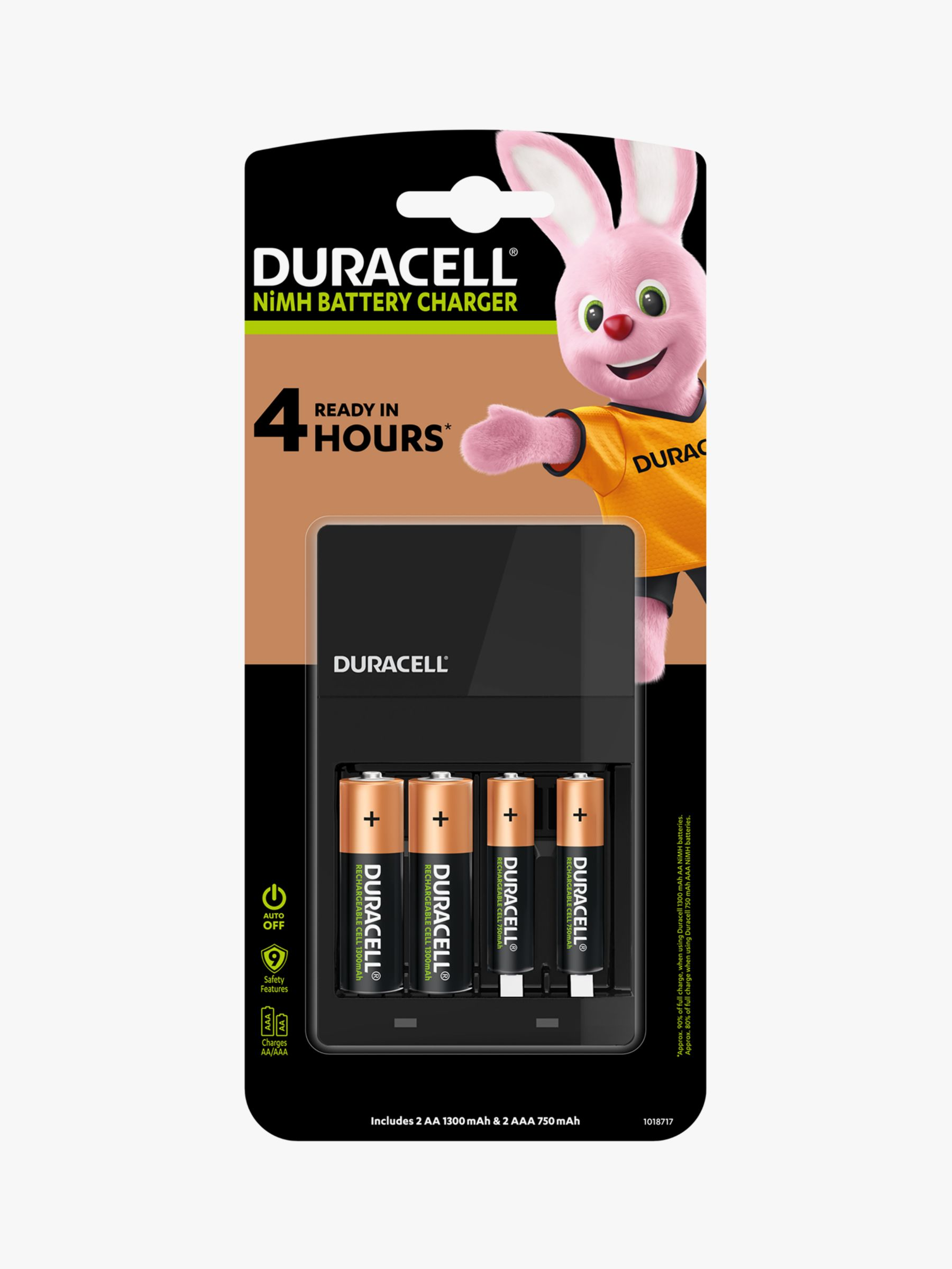 Duracell Duracell Hi-Speed Value Charger with 2 AA and 2 AAA Rechargeable Batteries