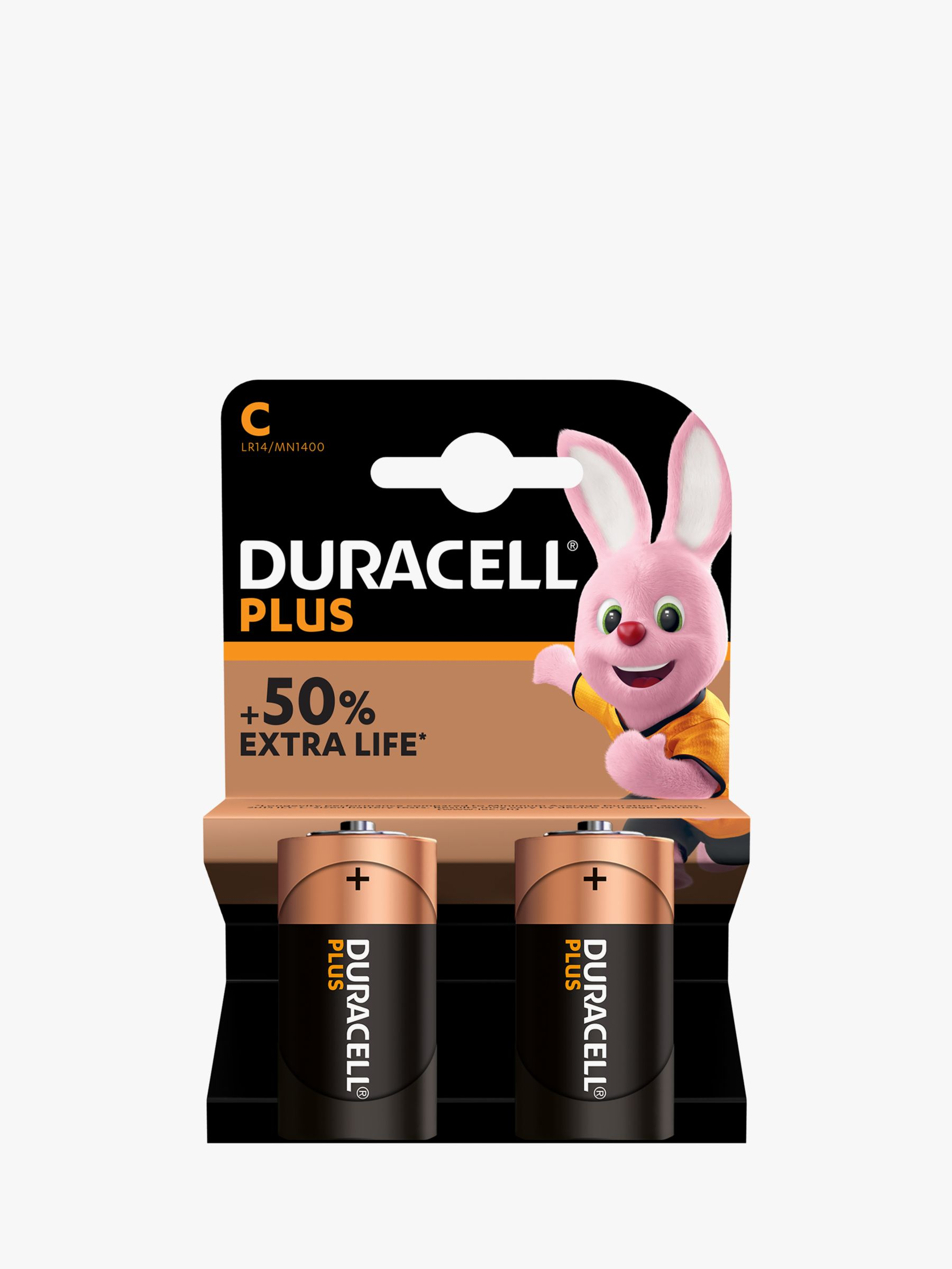 Duracell Duracell Plus Power 1.5V Alkaline C Batteries, Pack of 2