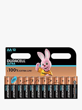 Duracell Ultra Power 1.5V Alkaline AA Batteries, Pack of 12