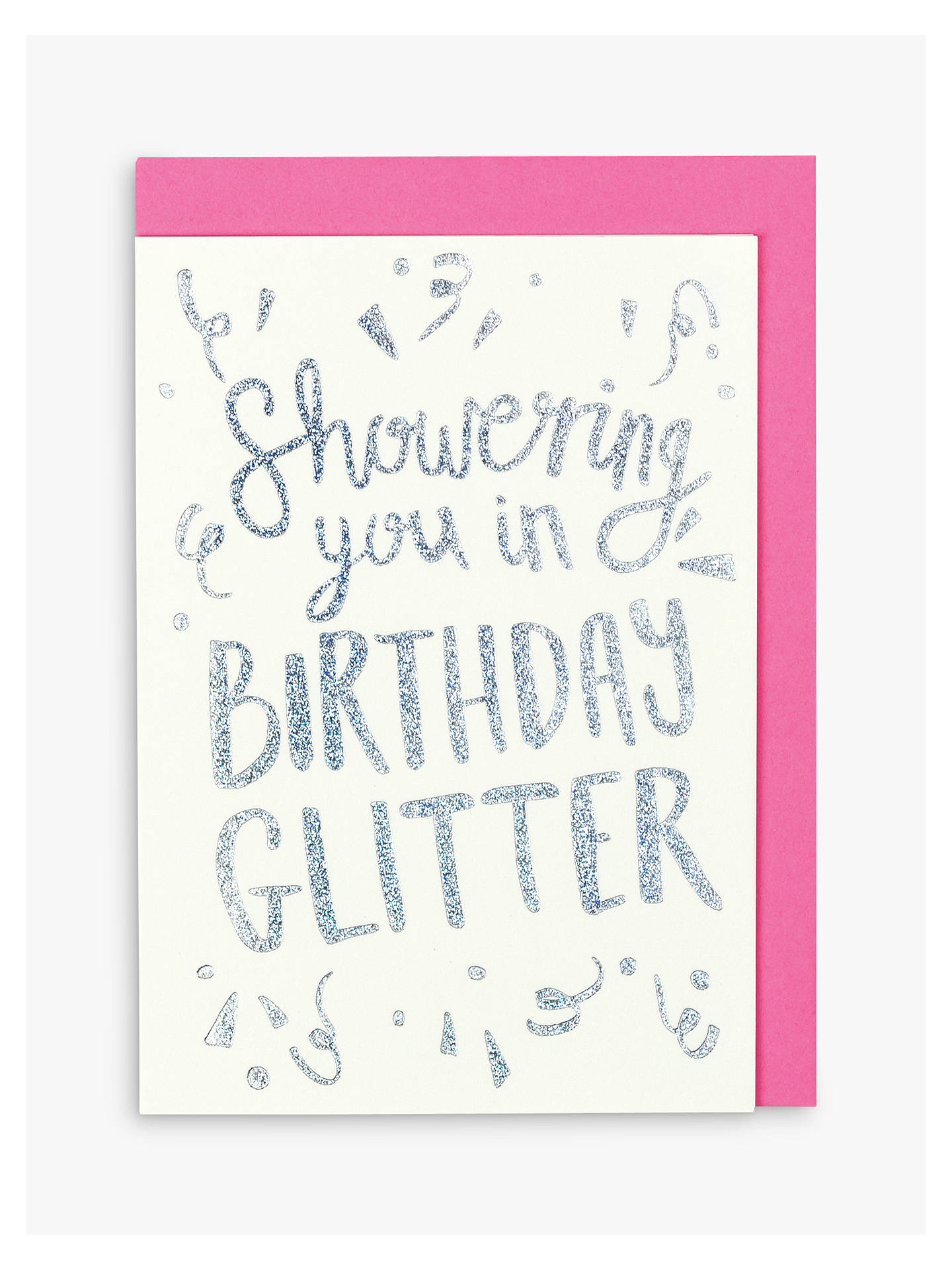BuyRaspberry Blossom Glitter Birthday Card Online At Johnlewis