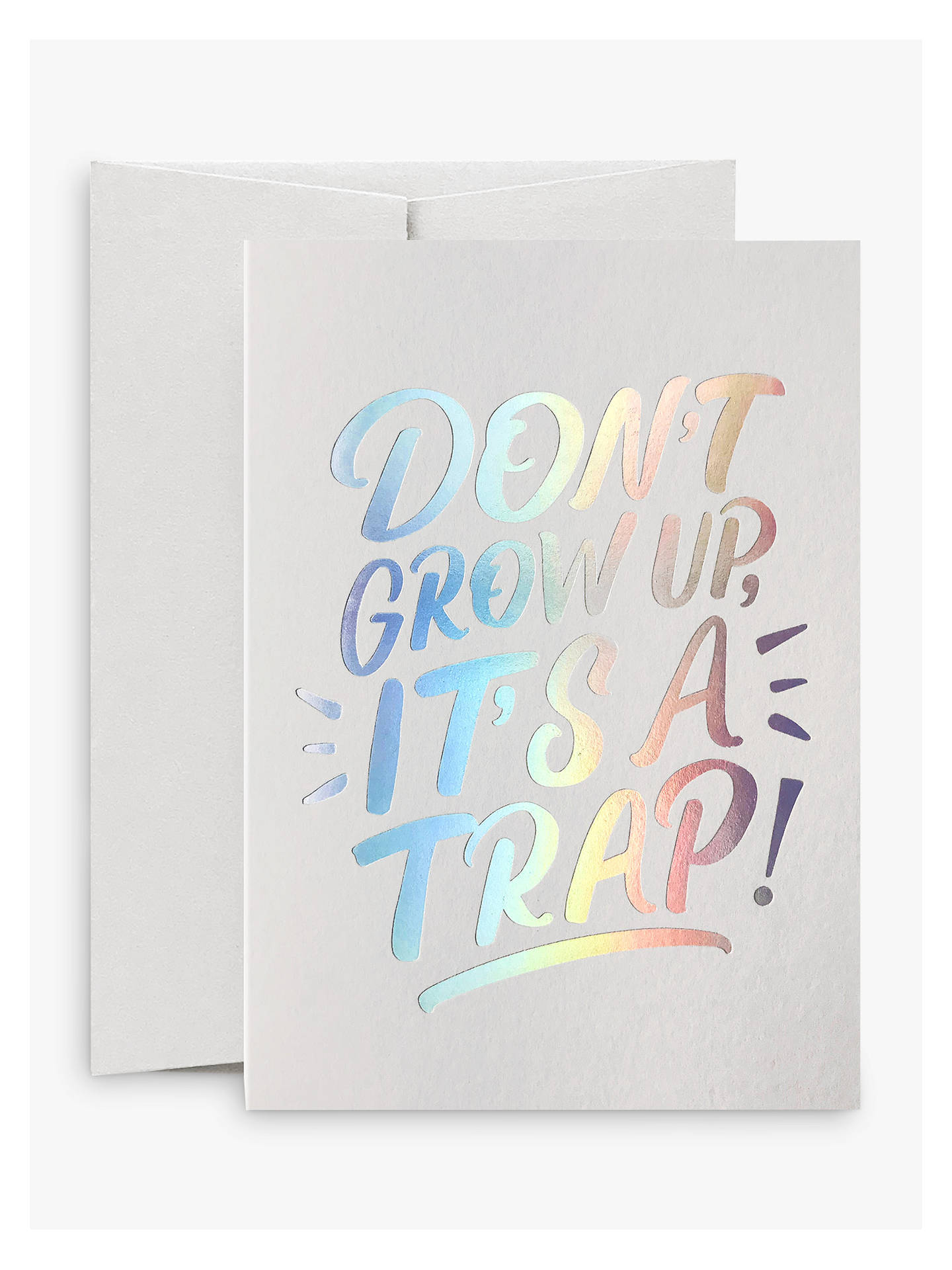 Buy Card Nest Don't Grow Up Birthday Card Online at johnlewis.com
