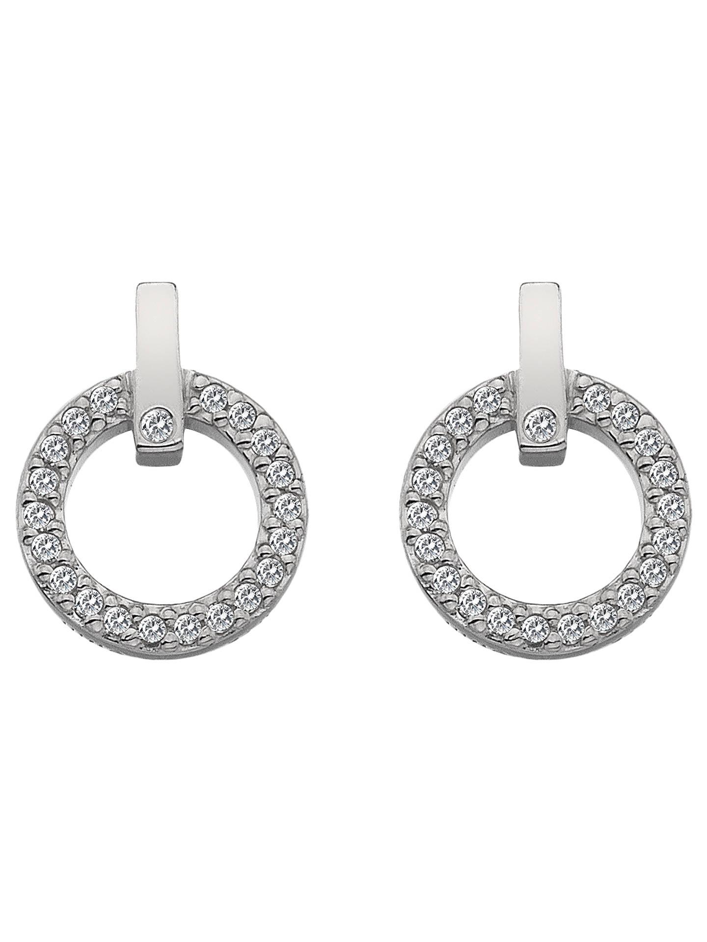 8a30600531956 Hot Diamonds White Topaz and Diamond Circle Stud Earrings, Silver