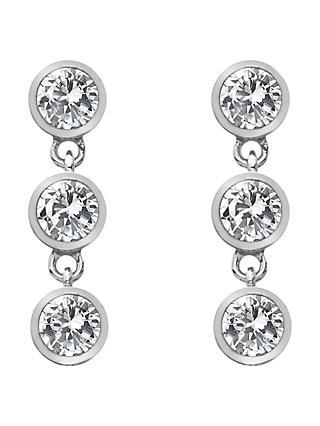 c39054eb1e3 Hot Diamonds White Topaz and Diamond Triple Drop Earrings