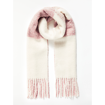 Great Plains Chunky Check Scarf, Dusty Pink