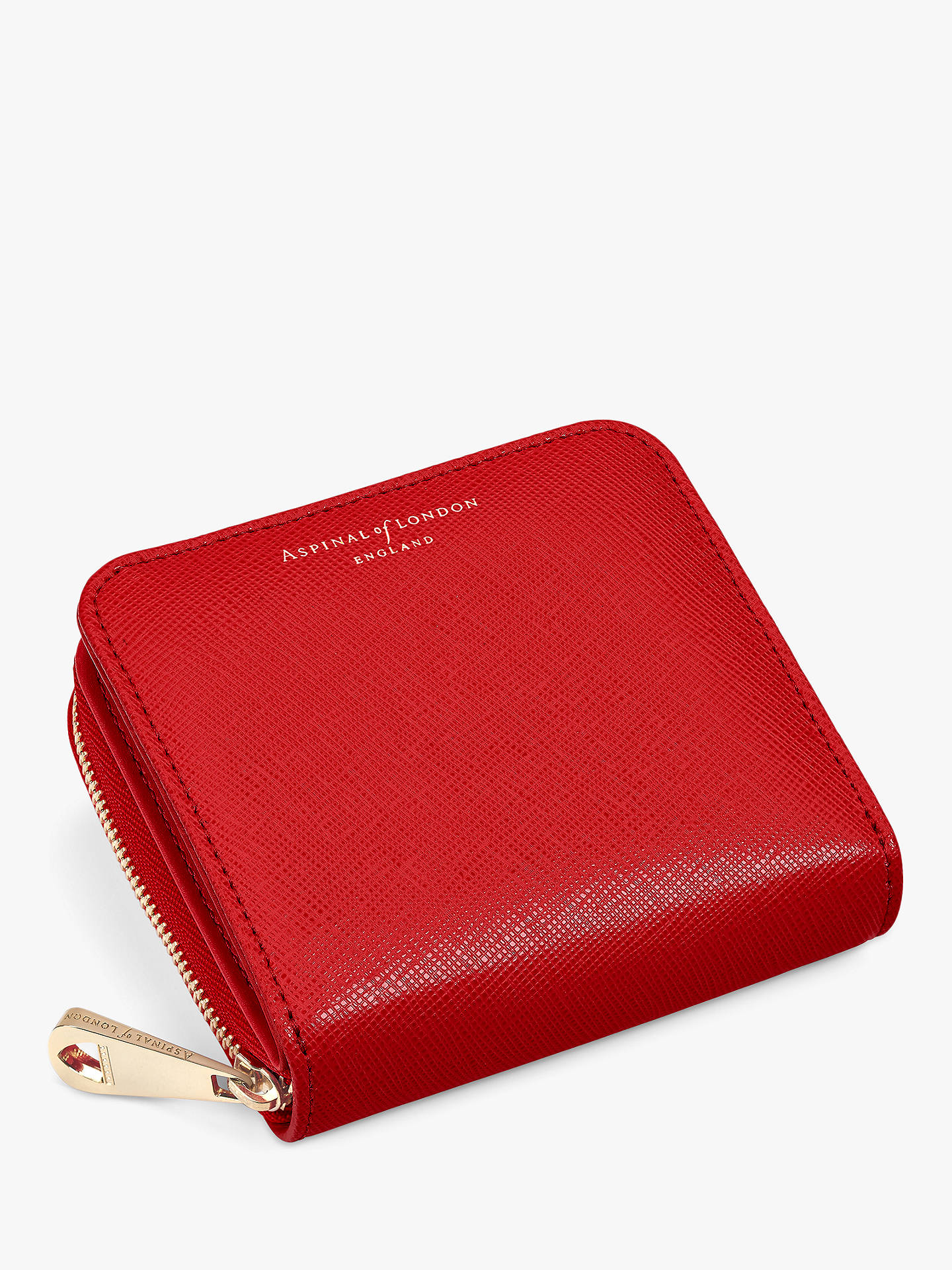 BuyAspinal of London Leather Continental Mini Purse, Scarlett Online at johnlewis.com