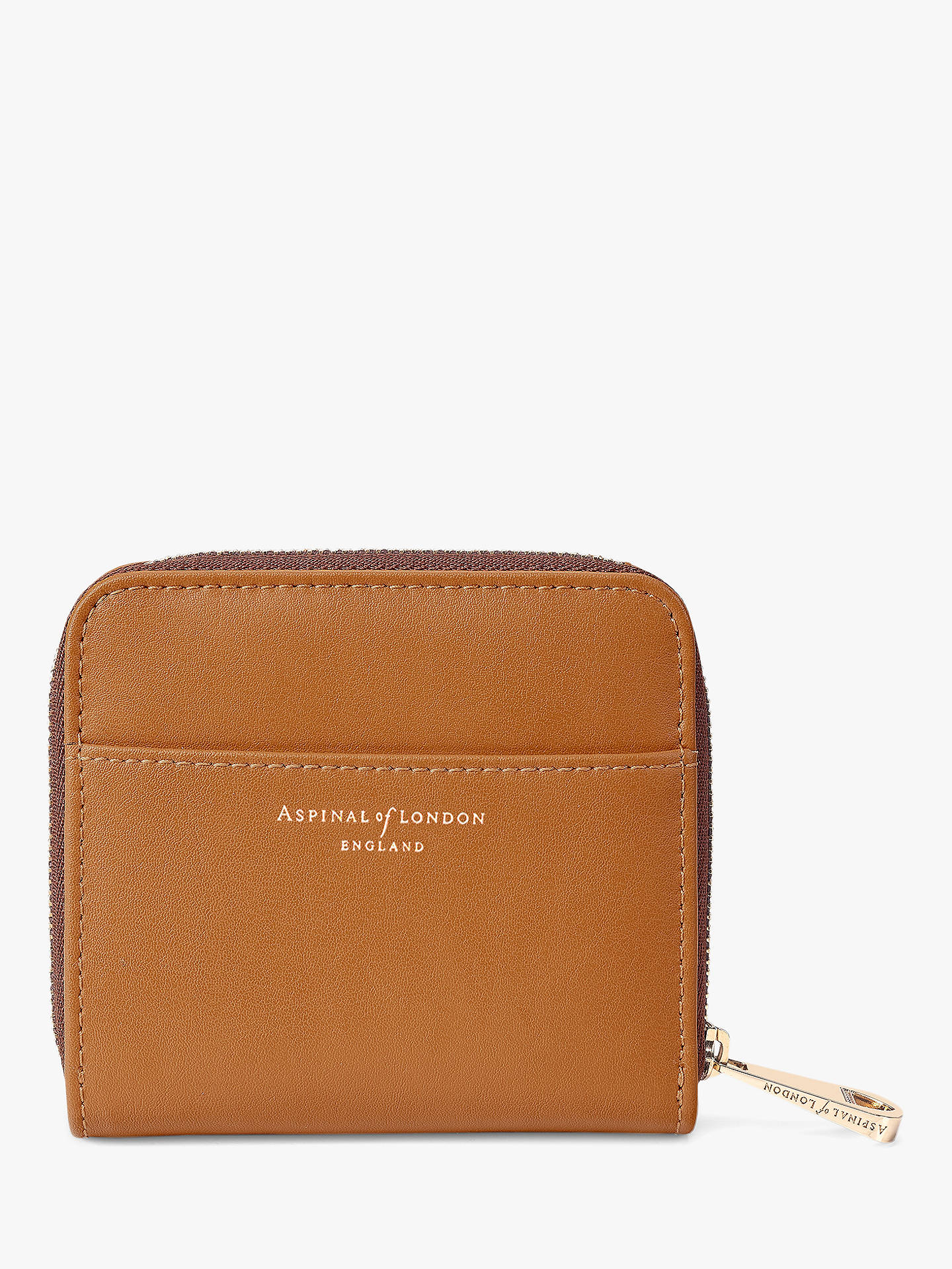 BuyAspinal of London Smooth Leather Continental Mini Purse, Tan Online at johnlewis.com
