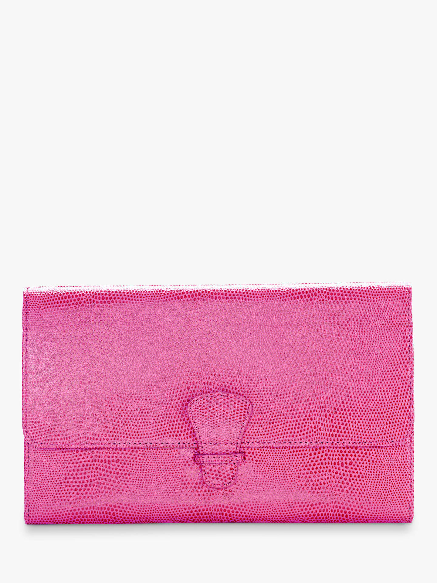 Buy Aspinal of London Classic Leather Travel Wallet, Raspberry Online at johnlewis.com