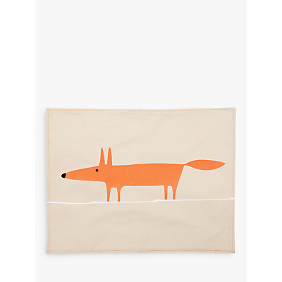 Scion Mr Fox Placemats, Set of 4, Orange