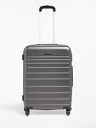 John Lewis & Partners Athens 65cm 4-Wheel Medium Case, Black