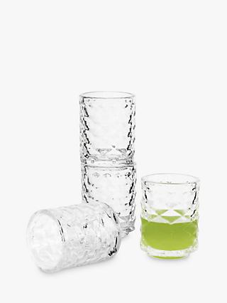 Sagaform Club Stackable Shot Glasses, Set of 4, 60ml, Clear