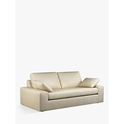 John Lewis & Partners Prism Grand 4 Seater Leather Sofa, Dark Leg