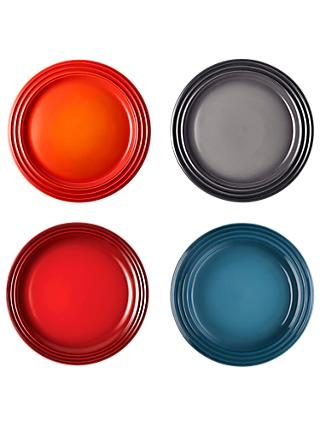 Le Creuset Stoneware Side Plates, 22cm, Set of 4, Assorted