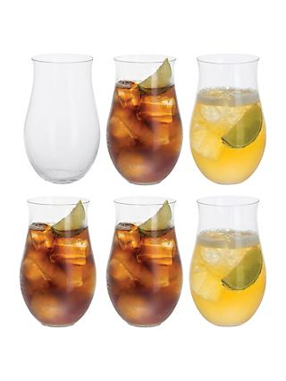 Dartington Crystal Rum Party Tumblers, Set of 6, 380ml, Clear