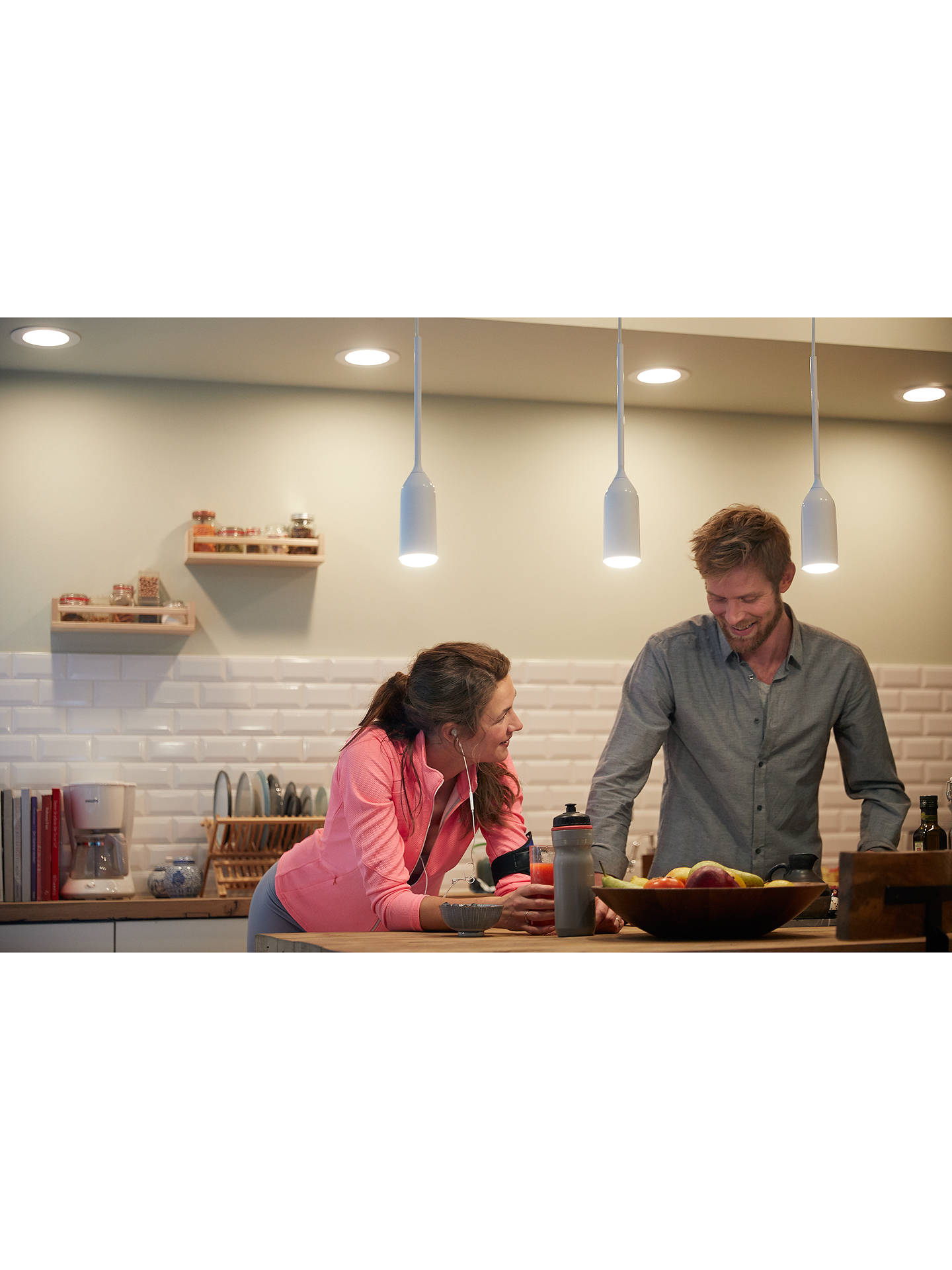Buy Philips Hue White Ambiance Devote Ceiling Light and Dimmer, White Online at johnlewis.com