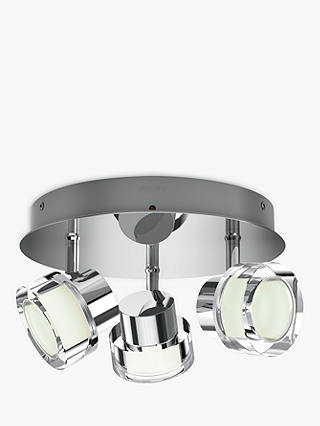 Buy Philips Resort LED 3 Arm Bathroom Ceiling Light, Chrome Online at johnlewis.com