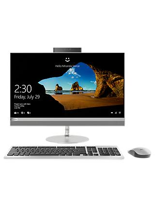 "Lenovo 520 All-in-One Desktop PC, Intel Core i5, 8GB RAM, 1TB HDD + 16GB Intel Optane Memory, 23.8"" Full HD, Silver"