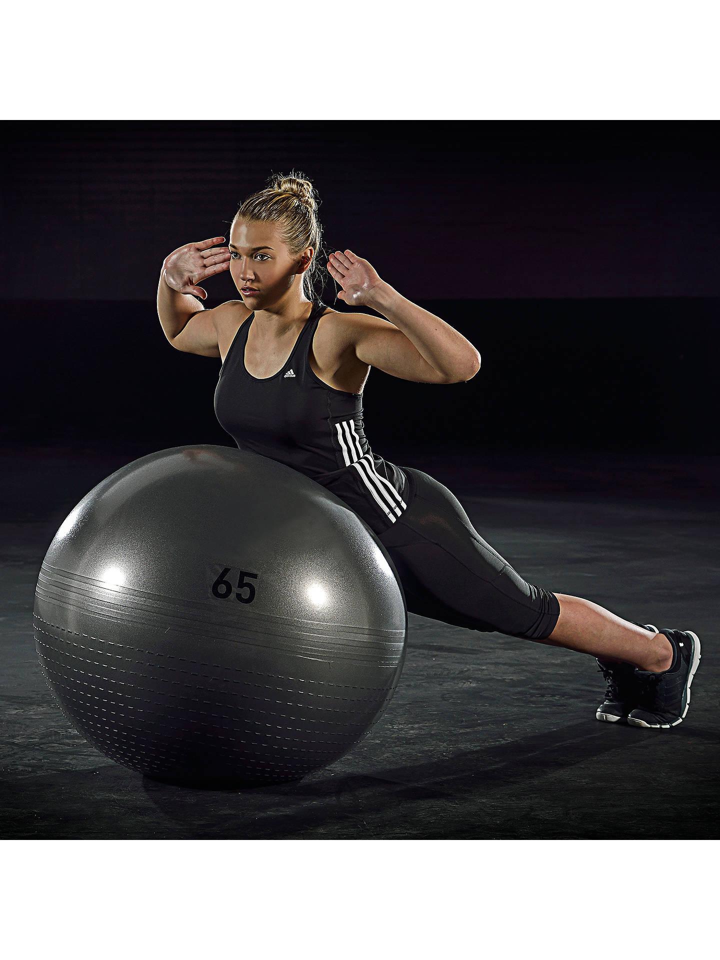 El actual Kakadu Atar  adidas Gym Balance Ball, Grey, 65cm at John Lewis & Partners