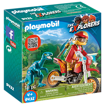 Playmobil The Explorers 9431 Motorbike With Raptor