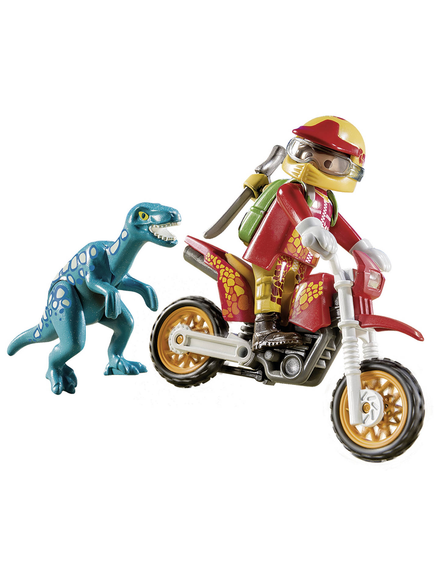BuyPlaymobil The Explorers 9431 Motorbike with Raptor Online at johnlewis.com