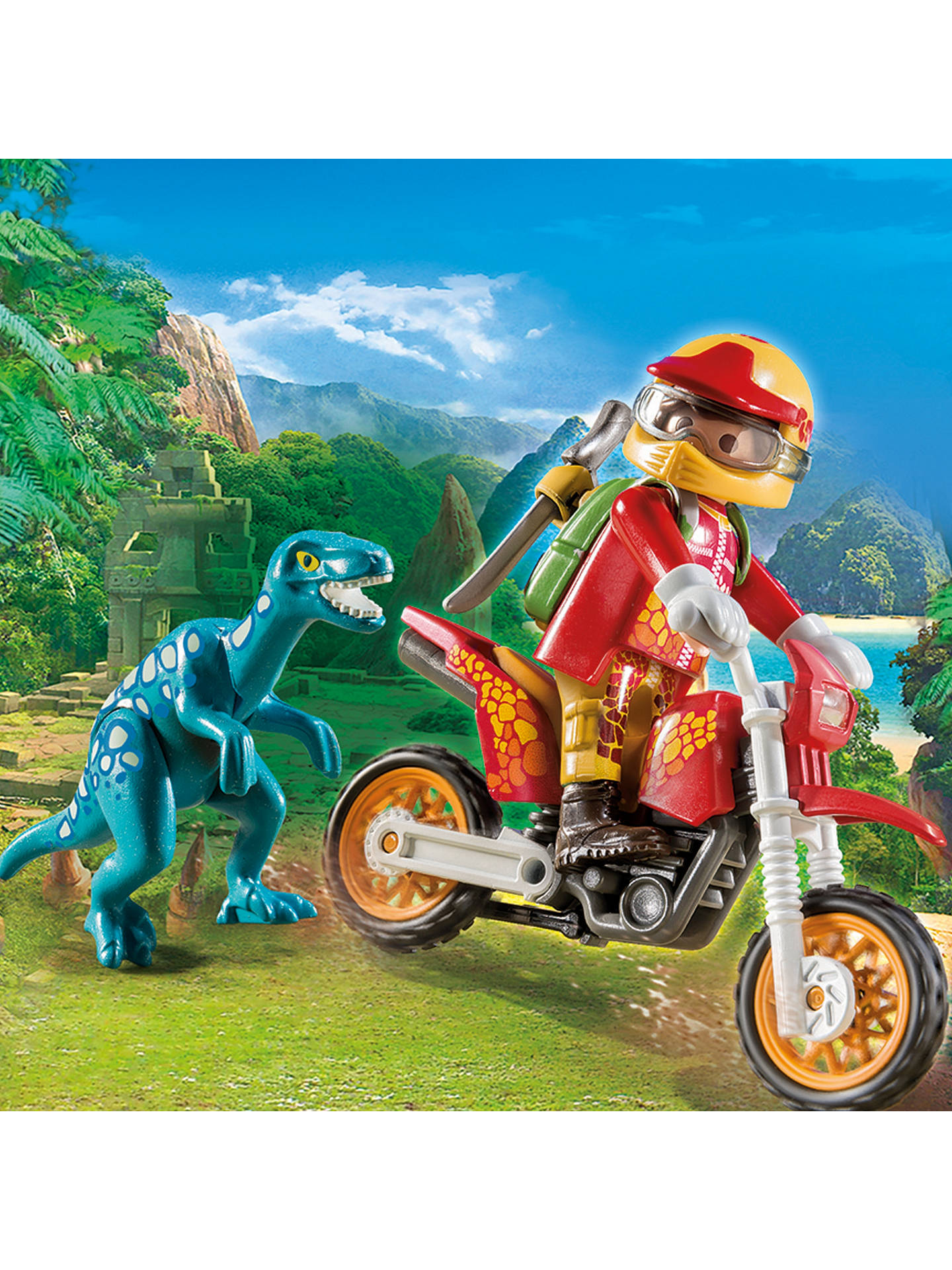 Buy Playmobil The Explorers 9431 Motorbike with Raptor Online at johnlewis.com
