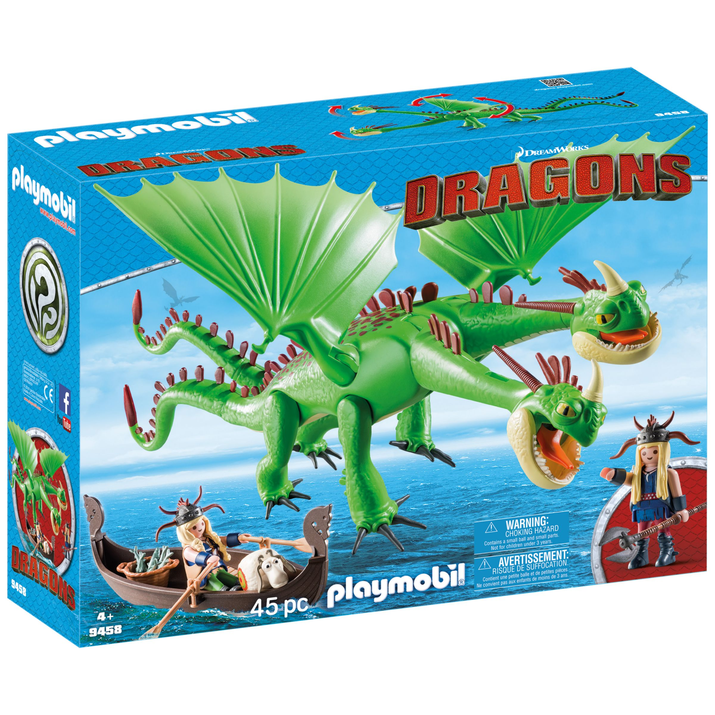 PLAYMOBIL Playmobil Dragons 9458 Ruffnut and Tuffnut with Barf and Belch Play Set