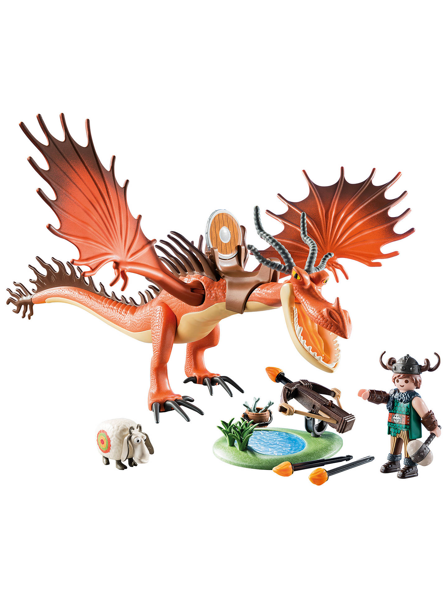 BuyPlaymobil Dragons 9459 Snotlout and Hookfang Play Set Online at johnlewis.com