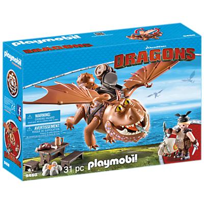 Playmobil Dragons 9460 Fishlegs With Meatlug Play Set