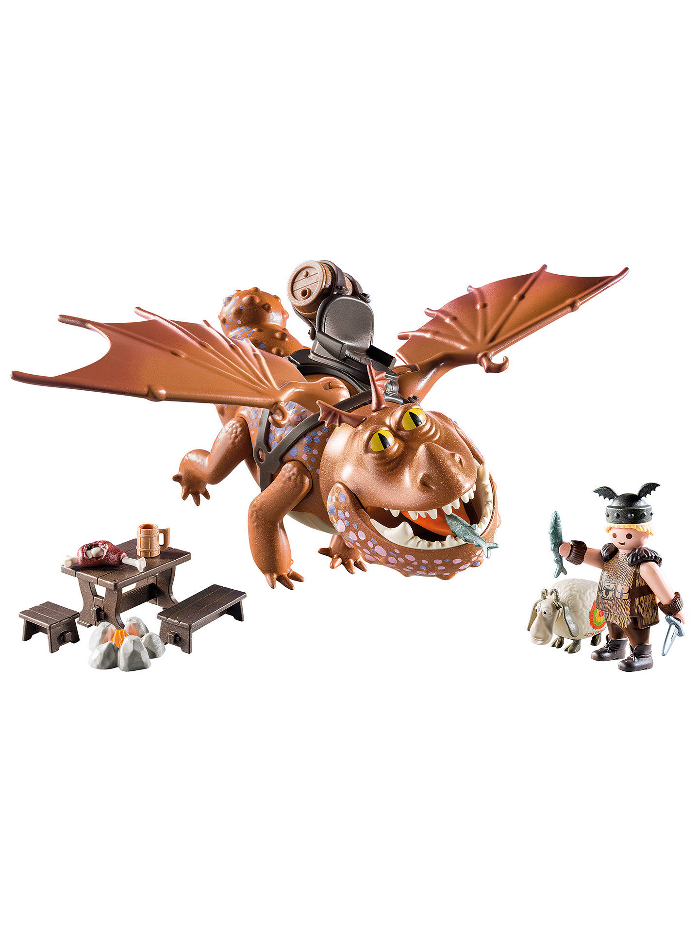 Playmobil Dragons 9460 Fishlegs With Meatlug Play Set At John Lewis