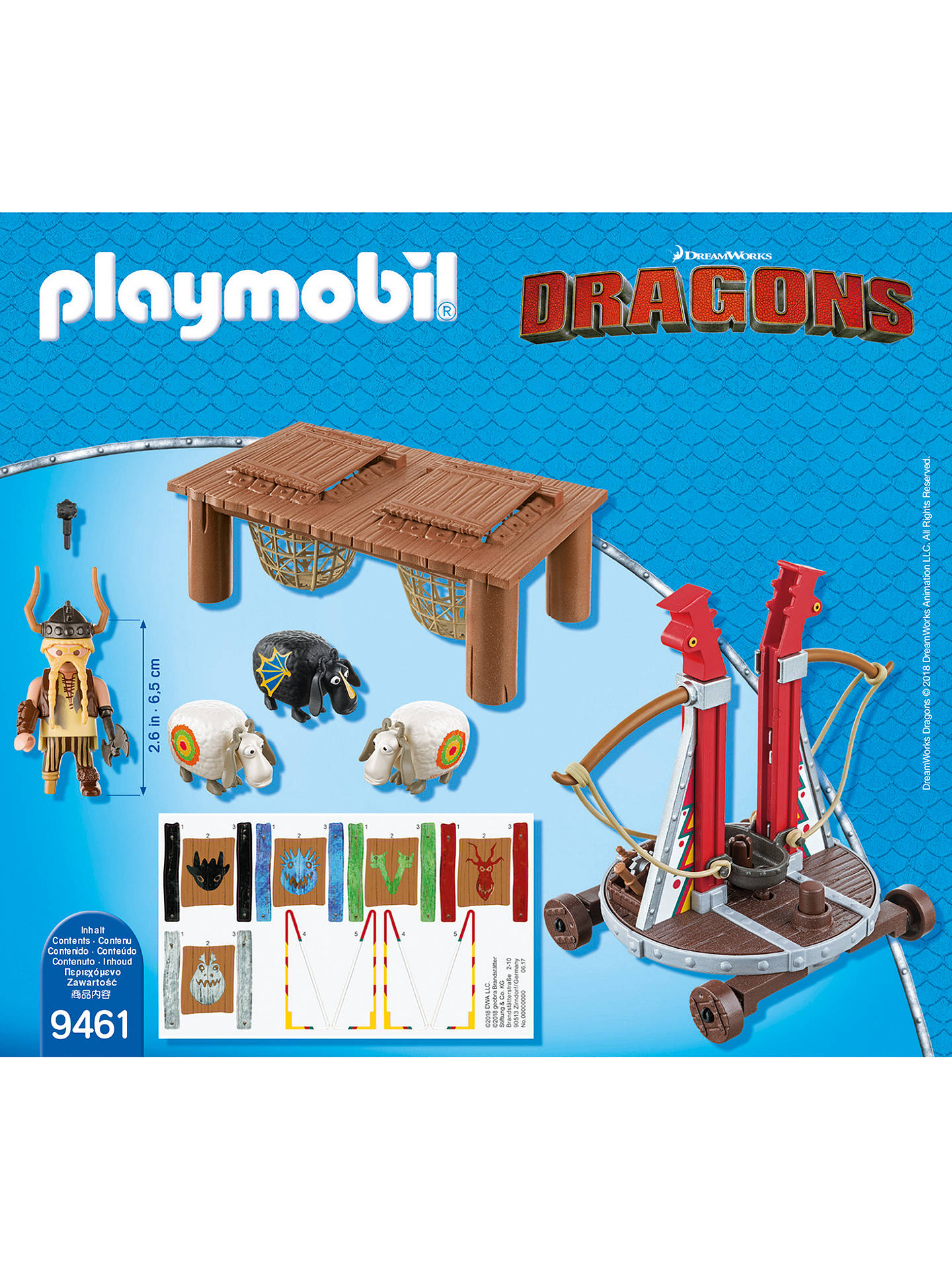 BuyPlaymobil Dragons Sheep Launcher Play Set Online at johnlewis.com