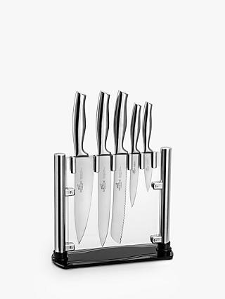 Sabatier Fuji-Orys Stainless Steel Knives and Knife Block, 5 Piece