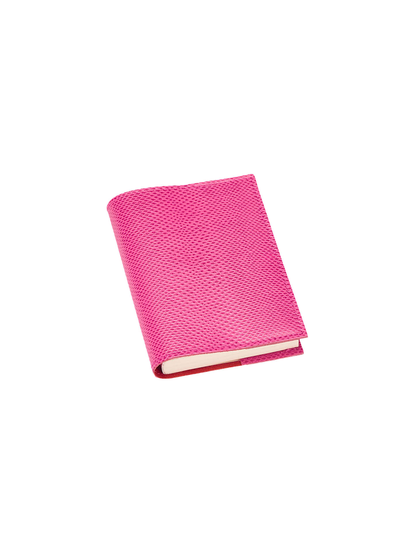 BuyAspinal of London Refillable Leather A7 Journal, Raspberry Lizard Online at johnlewis.com