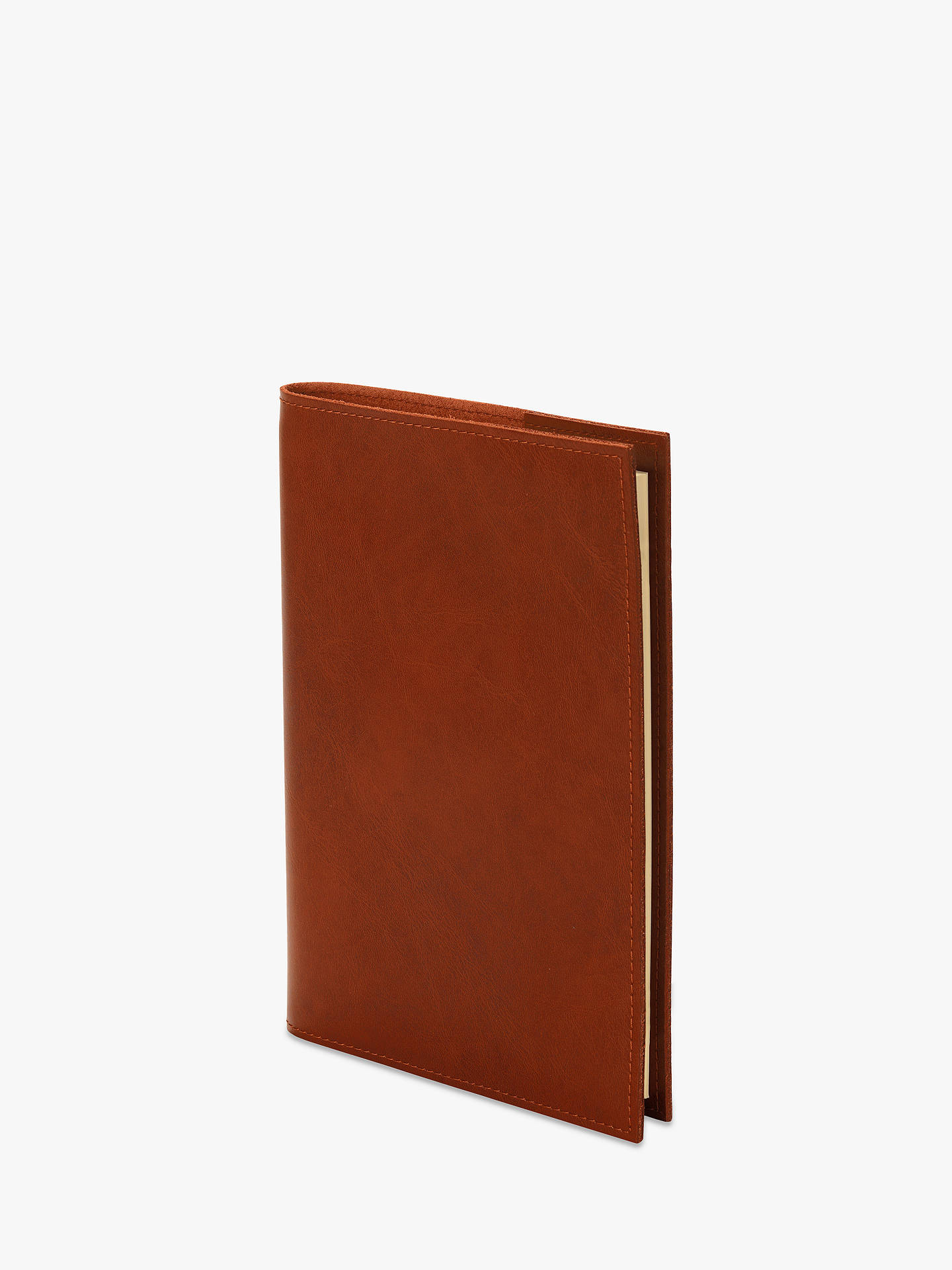 Buy Aspinal of London Refillable Leather A5 Journal, Brown Online at johnlewis.com