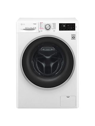 LG F4J6JY1W Freestanding Washing Machine, 10kg Load, A+++ Energy Rating, 1400rpm Spin, White