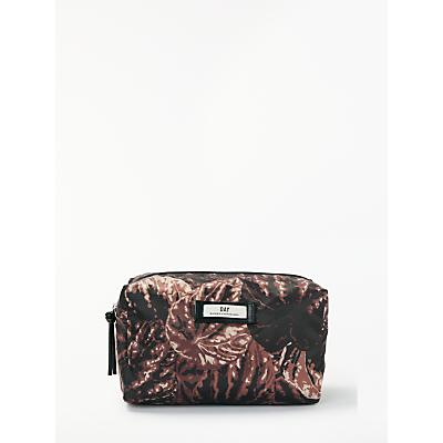 DAY BIRGER ET MIKKELSEN Gweneth P Foilole Palm Print Wash Bag, Brown/Black