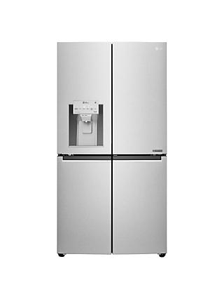 LG GMJ936NSHV American Style Plumbed Freestanding Fridge Freezer, A+  Energy Rating, 91cm Wide, Premium Steel