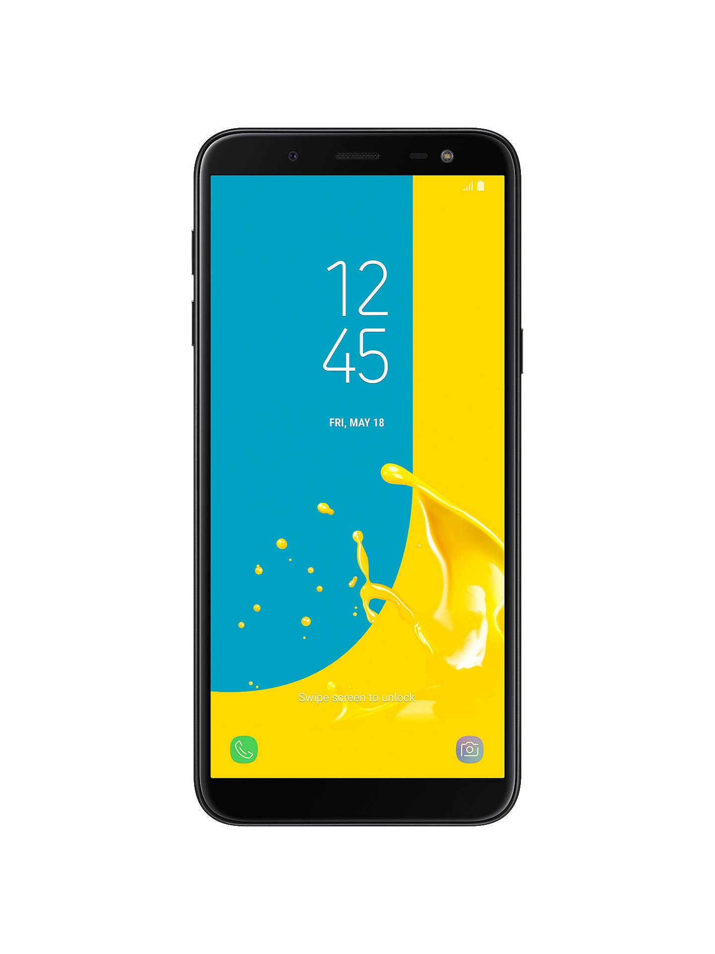 "Samsung Galaxy J6, Android, 5 6"", 4G LTE, SIM Free, 32GB, Black"