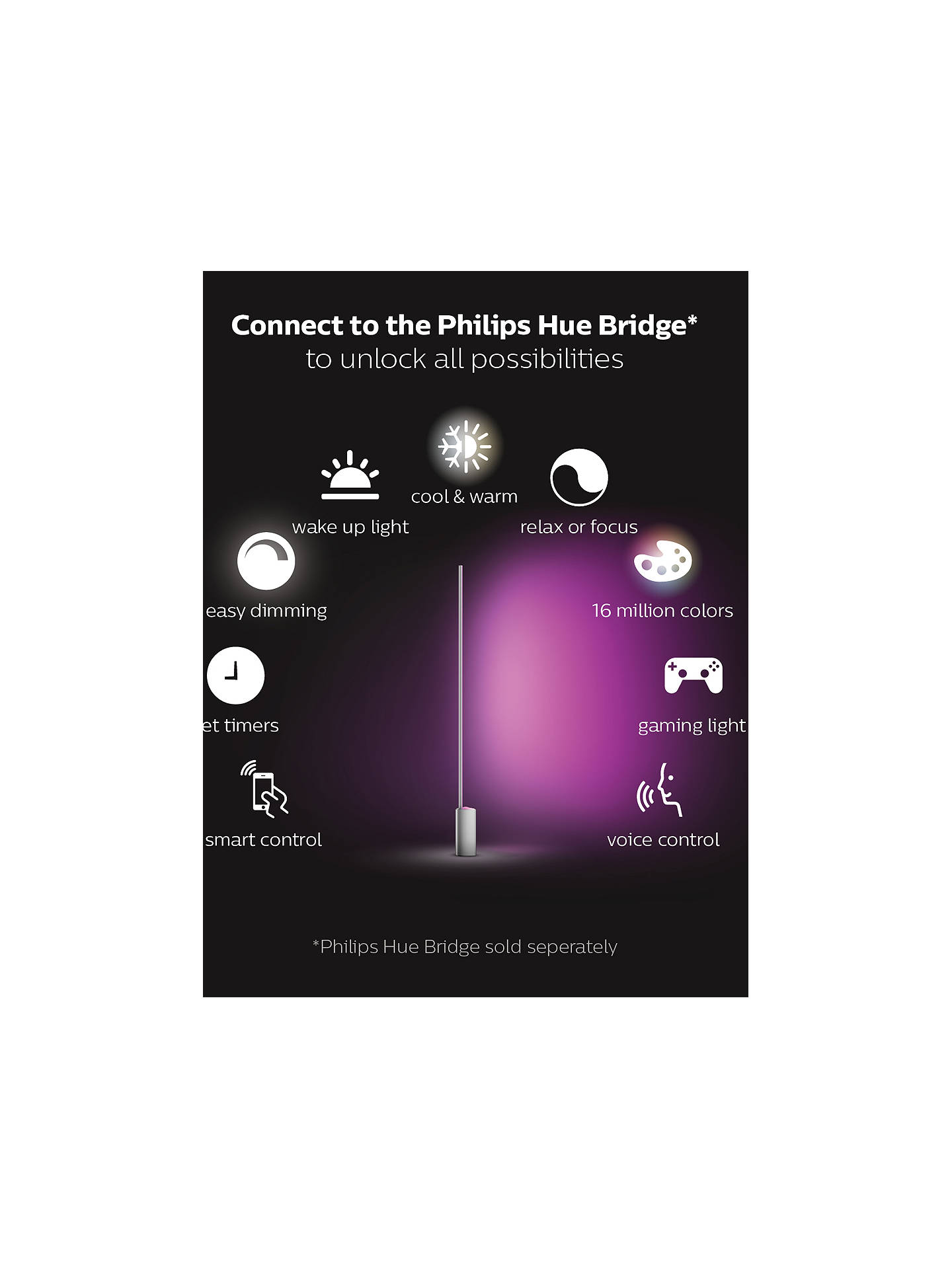 Philips Hue White And Colour Ambiance Signe Led Floor Lamp