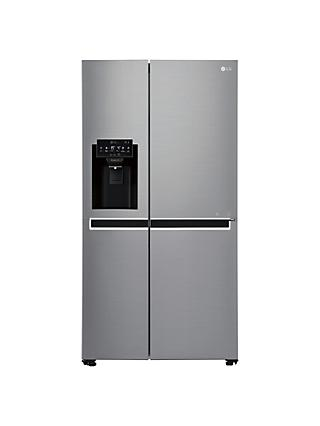 LG GSL761PZUV American Style Non-Plumbed Freestanding Fridge Freezer, A+  Energy Rating, 91cm Wide, Silver