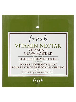 Fresh Vitamin Nectar Vitamin C Glow Powder 30 Second Foaming Facial
