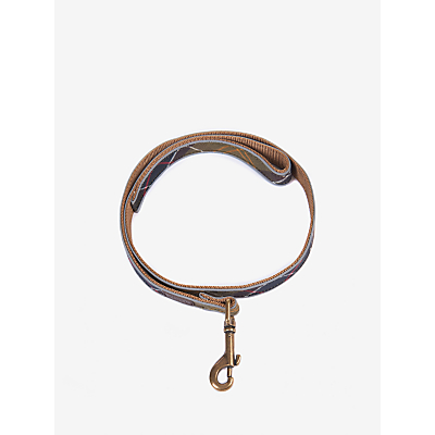 Image of Barbour Classic Tartan Reflective Dog Lead, L100cm