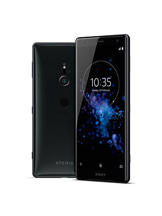 "Buy Sony Xperia XZ2 Smartphone, Android, 5.7"", 4G LTE, SIM Free, 64GB, Liquid Black + Sony WF-1000X Noise Cancelling True Wireless Bluetooth NFC In-Ear Headphones with Mic/Remote, Black Online at johnlewis.com"