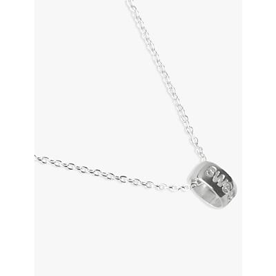 JOHN LEWIS   John Lewis & Partners Sterling Silver Sweet Heart Circle Necklace   Goxip